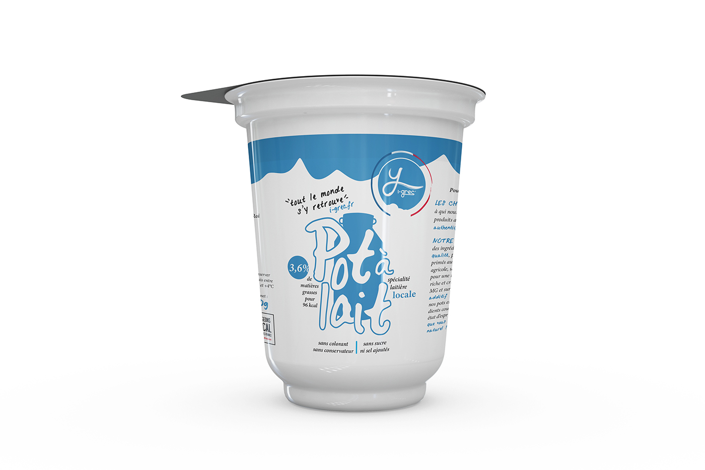 packaging yaourt grec graphiste food